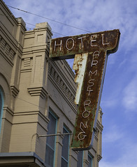 Hotel Armstrong Sign