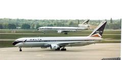 N180DN - Boeing 767-332(ER)  & N804DE MD-11 - Delta Air Lines FRA 100597