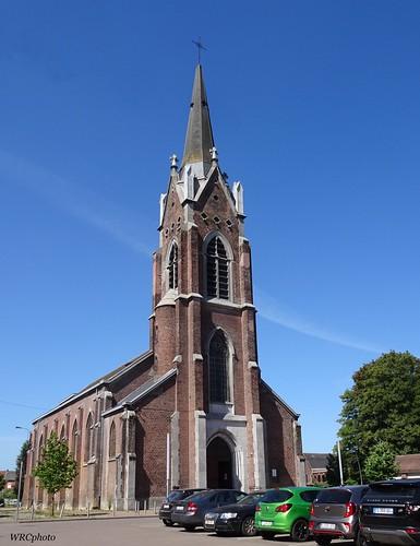 Eglise saint Joseph de Bracquegnies, Belgique.