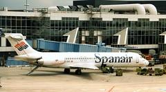 EC-GKG McDonnell Douglas MD-87 Spanair  FRA 100597