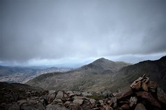 Minutes before storm Hannah hit, approaching Snowdon's summit