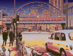Busy City and Bridge