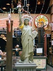 Decorated Statue of Liberty replica