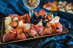 Mix Of Luxury Gourment Canape With Prosciutto