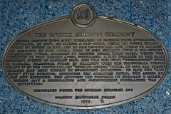 Historic plaque at The Bay Queen Street