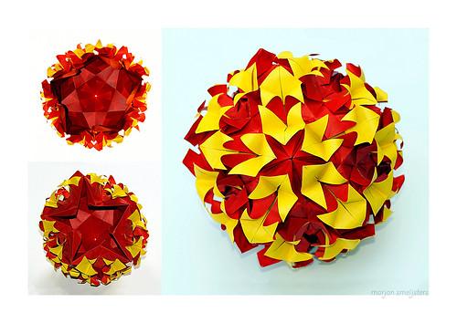 Origami Torch Ginger Kusudama (Aldos Marcel)