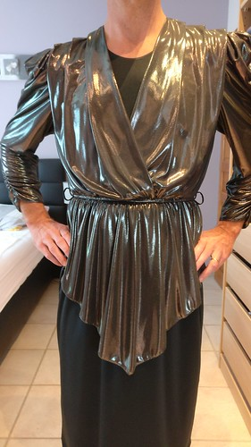 Black silver vintage party dress