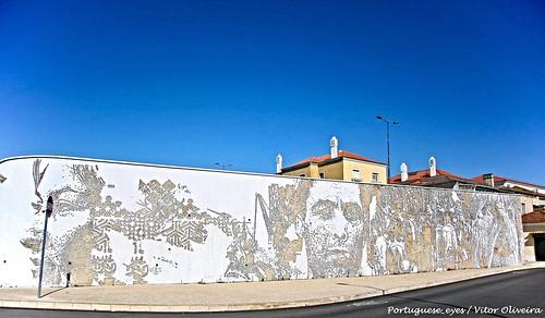 Mural Artístico de Vhils - Barreiro - Portugal 🇵🇹