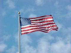 Flag flying over Arlington National Cemetery [01]