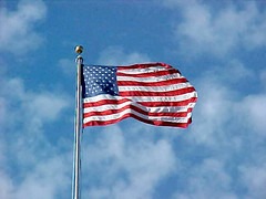 Flag flying over Arlington National Cemetery [03]