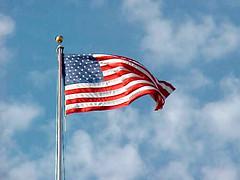 Flag flying over Arlington National Cemetery [02]