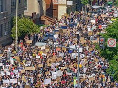 2020.06.06 Protesting the Murder of George Floyd, Washington, DC USA 158 20202