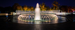 World War II Memorial Shimmers at Night