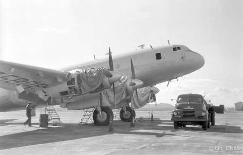 RNZAF Hastings NZ5802 part way through a repaint, presumably at Whenuapai, date unknown