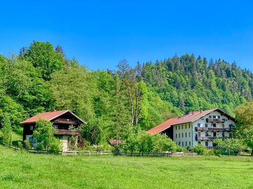 Houses in Morsbach in Tyrol, Austria