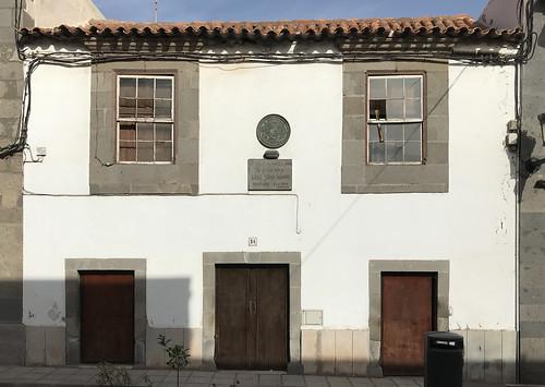 En esta casa nacio y vivio Saulo Torrón Navarro - Telde