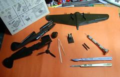 Monogram 1/48 scale P-40B IPMS Birimingam Charity Trophy build.