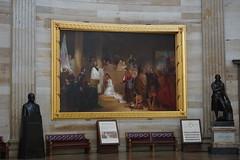 Baptism of Pocahontas at United States Capitol rotunda, Washington DC
