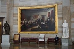 Declaration of Independence at United States Capitol rotunda, Washington DC