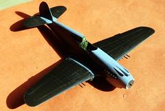 Monogram 1/48 scale Curtiss P-40B underconstruction IPMS Birimingam Charity Trophy build.