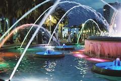 Fountain in the city square