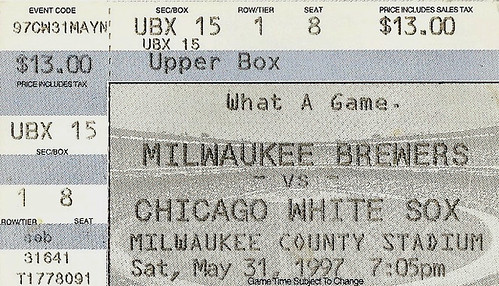 Milwaukee Brewers vs Chicago White Sox at former Milwaukee County Stadium