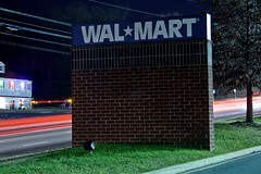 Monument-style Walmart sign