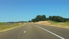 Start of construction zone, June 6, 2020