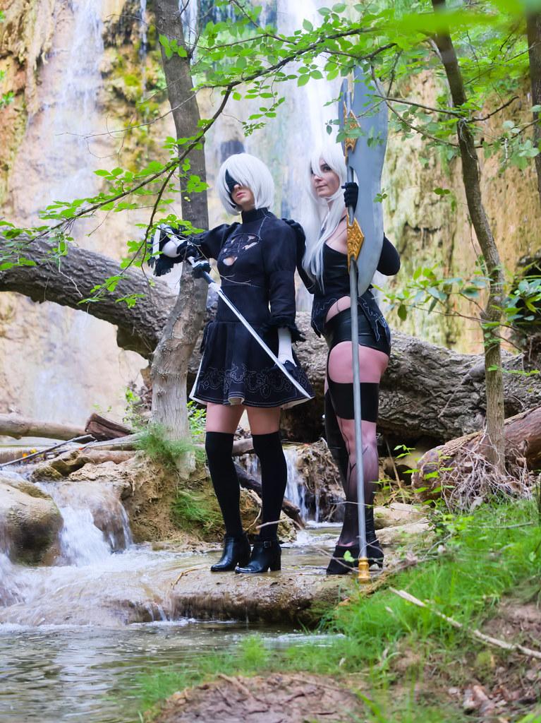 related image - Shooting Nier Automata - A2 & 2B - Hoolia & Alyce - Cotignac -2020-05-29- P2144189