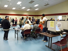 Early voting at Bauer Drive Community Recreation Center