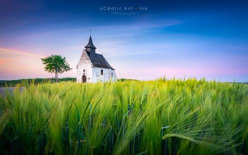 Chapelle du Try-au-Chêne (début de l'heure bleue)
