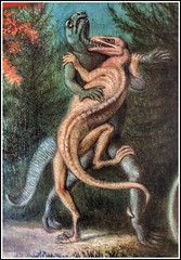 """Cretaceous Life of the New Jersey"" by Benjamin Waterhouse Hawkins (part.)"