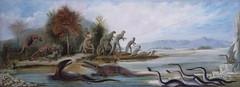 """Cretaceous Life of the New Jersey"" by Benjamin Waterhouse Hawkins"