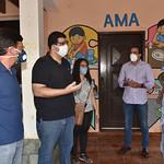 Visita para doação de cestas básicas - AMA-BA - Junho/2020