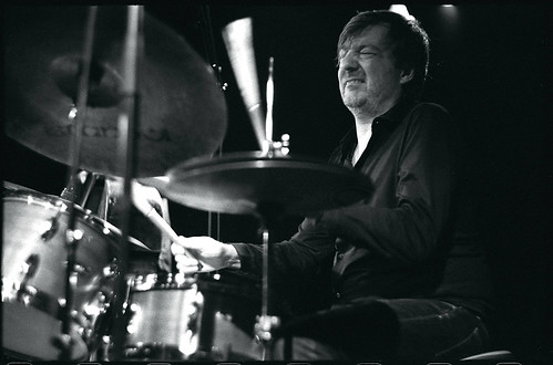 Dré Pallemaerts playing drums