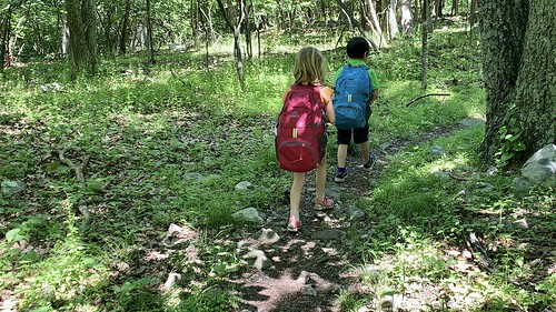 The twins happily walked many miles, up and down great paths, with heavy packs and no complaints over the weekend