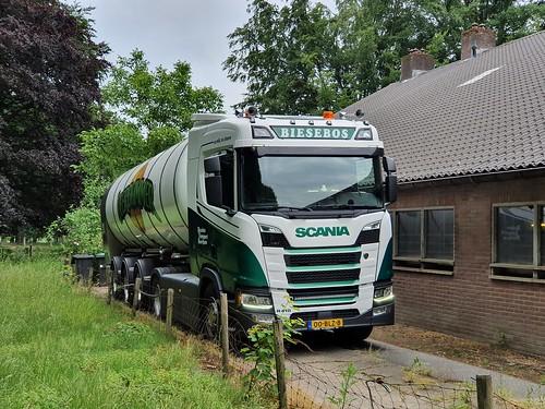 Scania R 410 Next Generation Biesebos met kenteken 00-BLZ-8met Leerdamer Silo aanhanger in Velp 09-06-2020