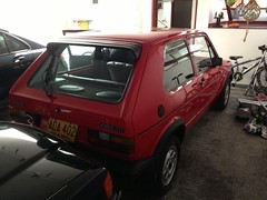 LA3A Mars Red 1981 VW Golf GTi MKI