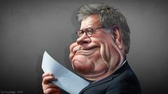 William Barr - Caricature