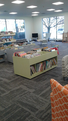 New furniture, Shirley Library