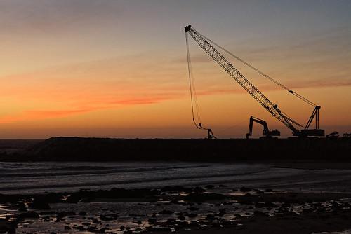 Espinho, trabalho em defesas costeiras