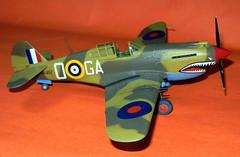 Airfix 1/48 No. 112 Squadron Curtiss Tomahawk Mk.II in desert camouflage.