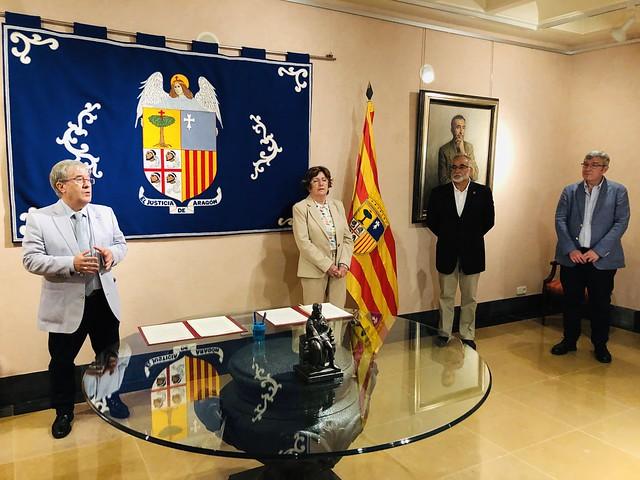 Firma del convenio para la creación del Observatorio Aragonés de la Soledad
