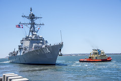 USS Ralph Johnson (DDG 114) departs Naval Base San Diego.
