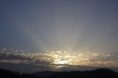 Sunset rays @ Lovagny