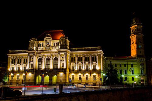 The City Hall of Oradea city by night 💕�