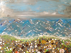 Pebble beach - finished painting