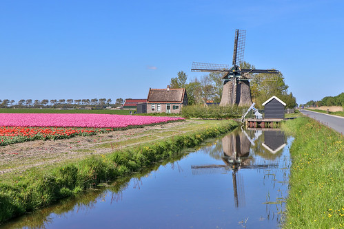 Windmill in Sint Maartensbrug, the Netherlands
