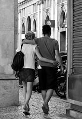 Tourist Couple sightseeing