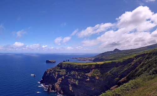 Panorama of North coast of Sao Miguel near Mosteiros